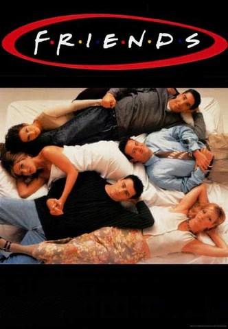 friends tv show cast rare vintage poster 27x39