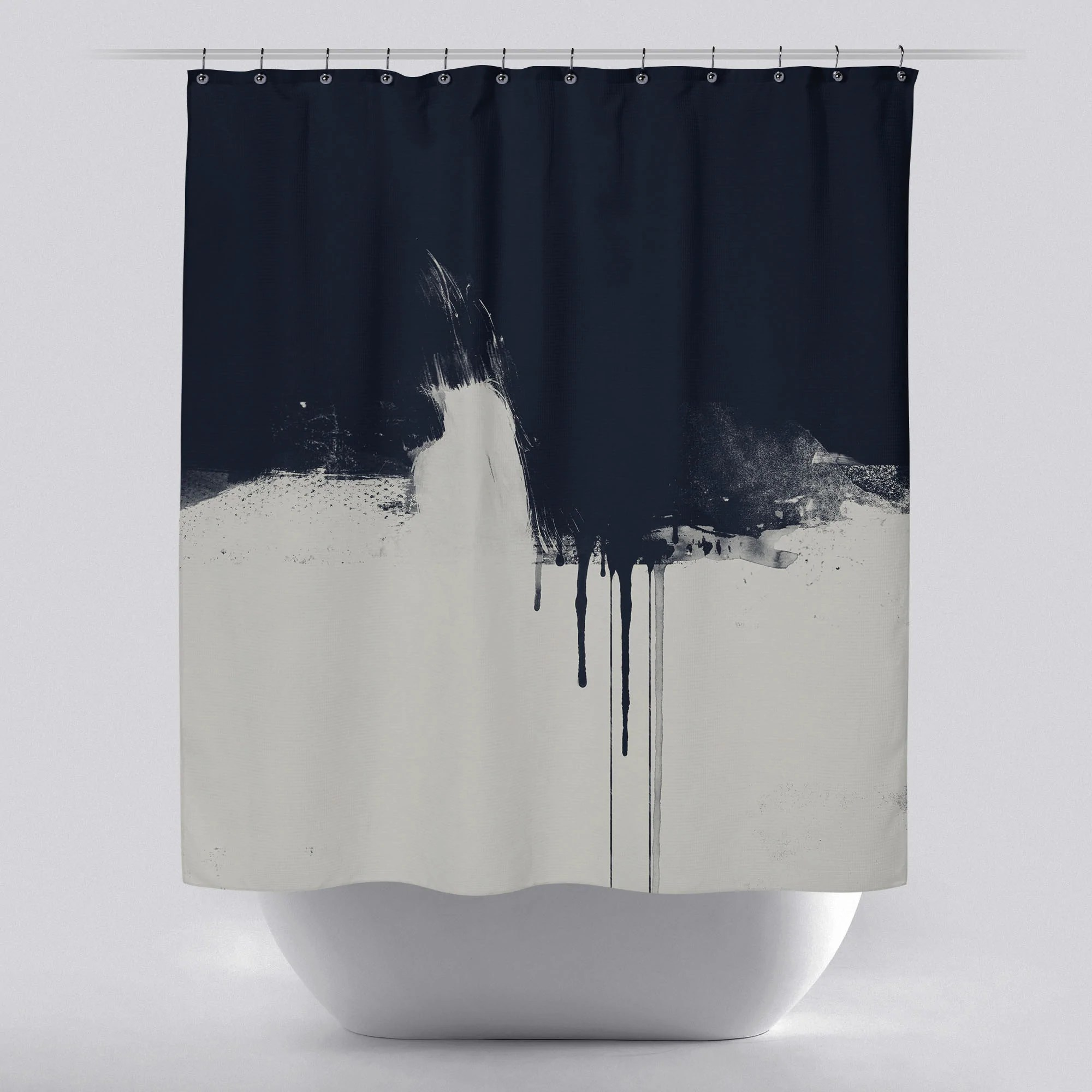 unique shower curtain out of the dark by green lili