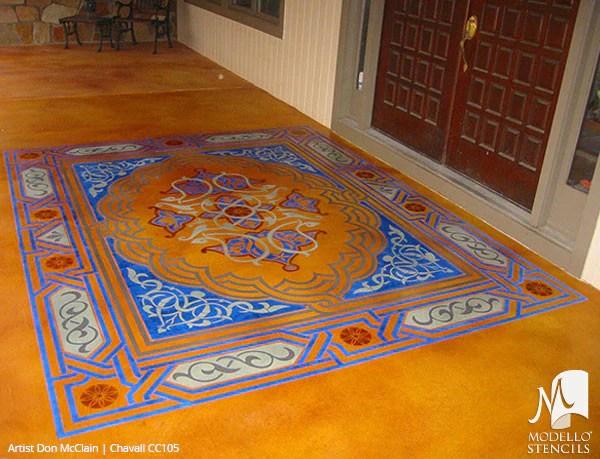 Painted Faux Carpet Amp Large Ceiling Panels Custom