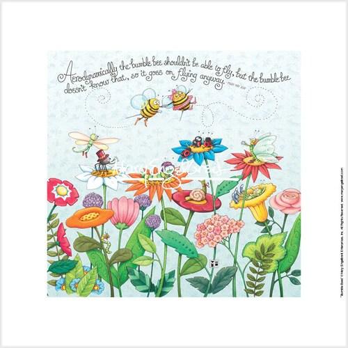 Bumble Bee Fine Print Mary Engelbreit