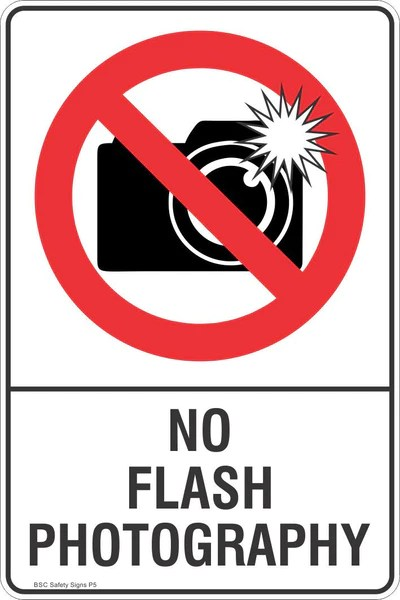 No Flash Photography Safety Sign - Prohibited Stickers ...