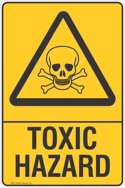 Toxic Hazard Warning Safety Signs Stickers Safety
