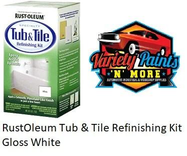 rustoleum tub tile refinishing kit gloss white 946ml