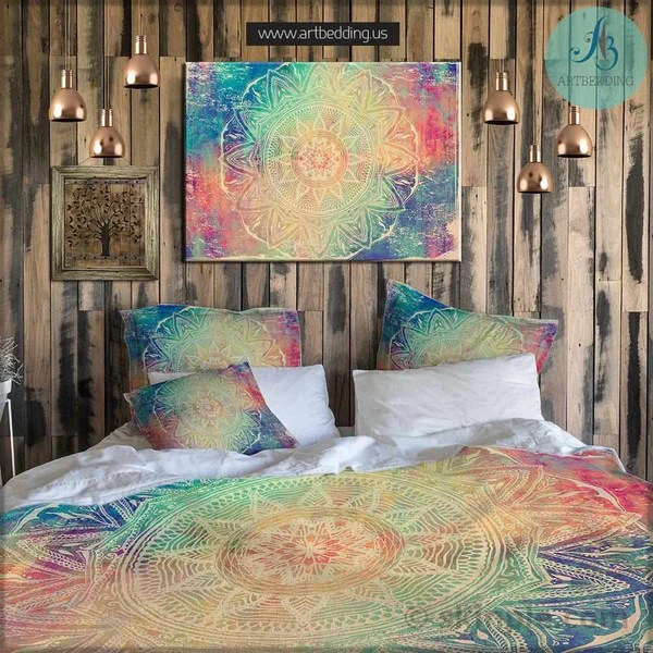 Bohemian Bedding Mandala Elephant Bedding Boho Beding