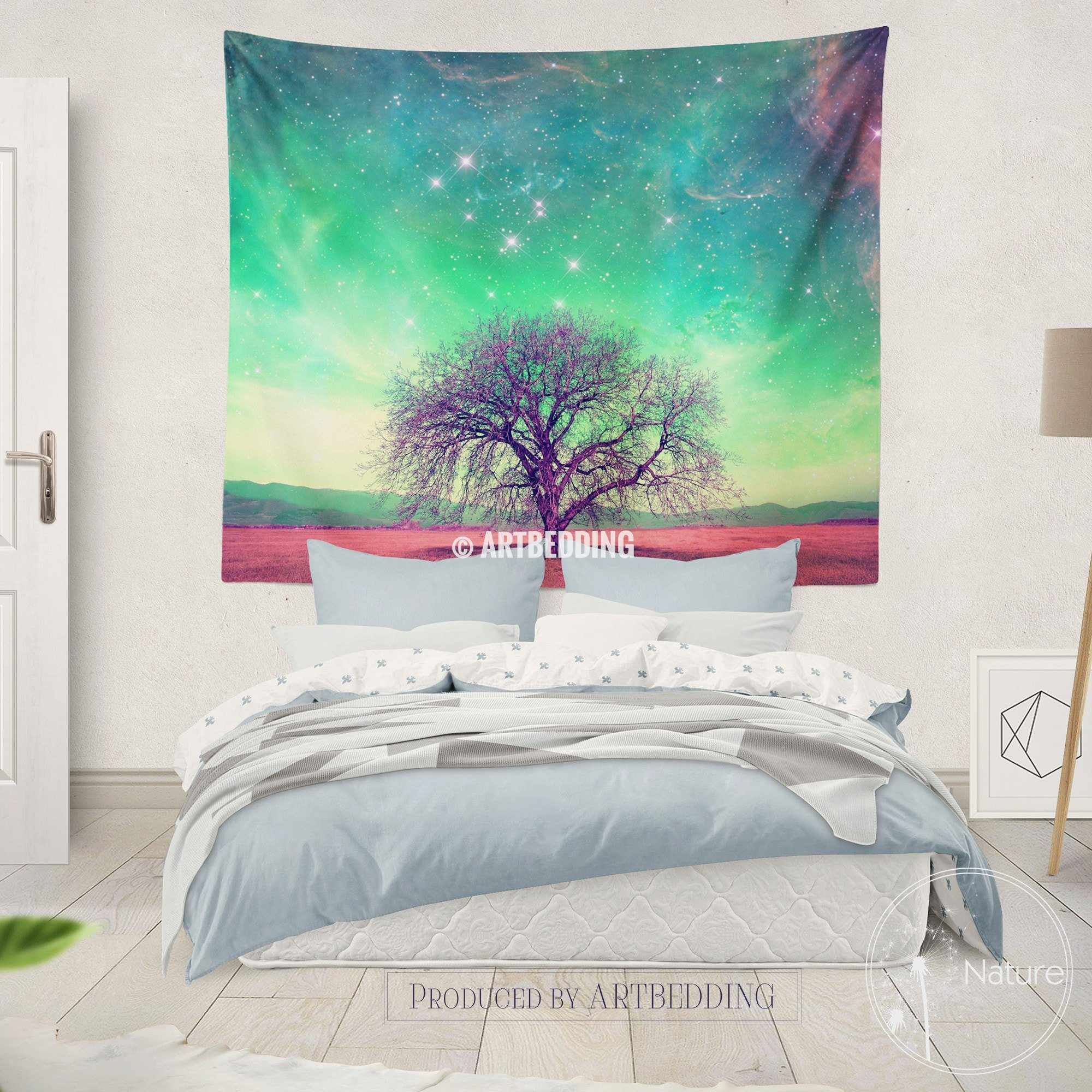 Nature Wall Decor Tree Of Life Fantasy Wall Art Print Bedroom Wall Tapestries Fantasy Wall Hanging Bohemian Wall Tapestry Artbedding