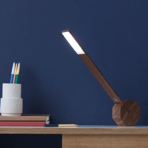 Gingko Octagon One Desk Lamp   Walnut     Gingko Electronics Online Store     Octagon One Desk Lamp   Walnut