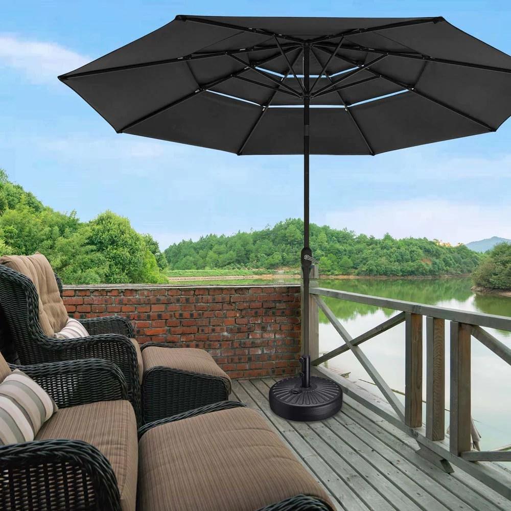 yescom outdoor patio umbrella base stand 62lbs