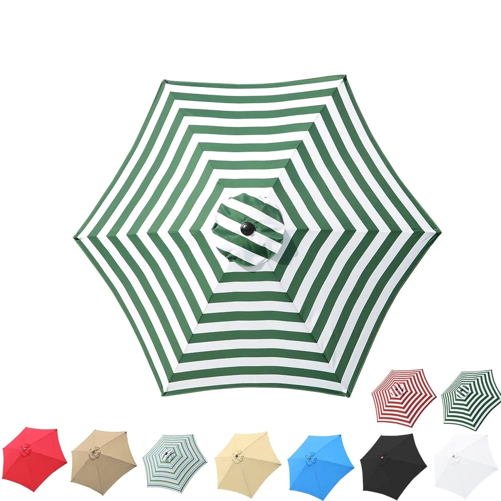 yescom 9 6 rib outdoor patio umbrella replacement canopy multiple colors
