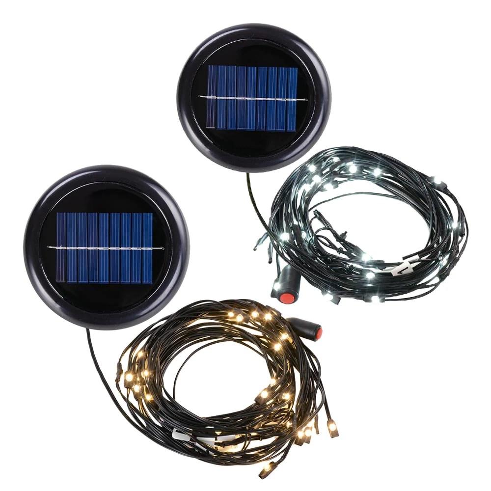 yescom 10ft 8 rib offset patio umbrella solar string lights color opt