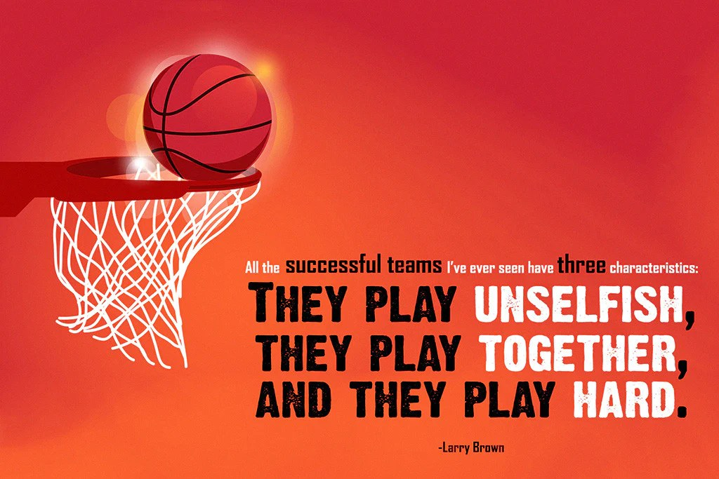 larry brown successful team motivational basketball nba quotes poster