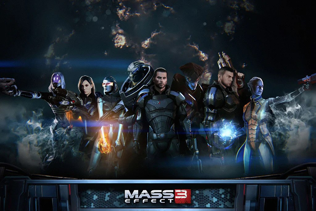 mass effect all characters poster