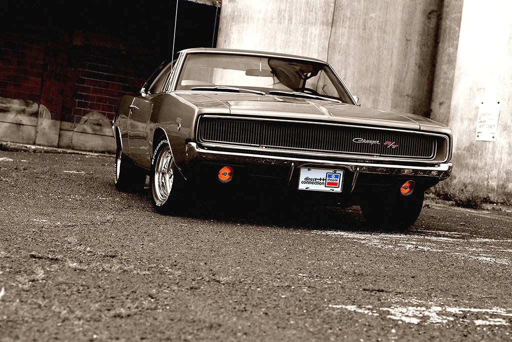 dodge charger rt retro vintage classic muscle car poster