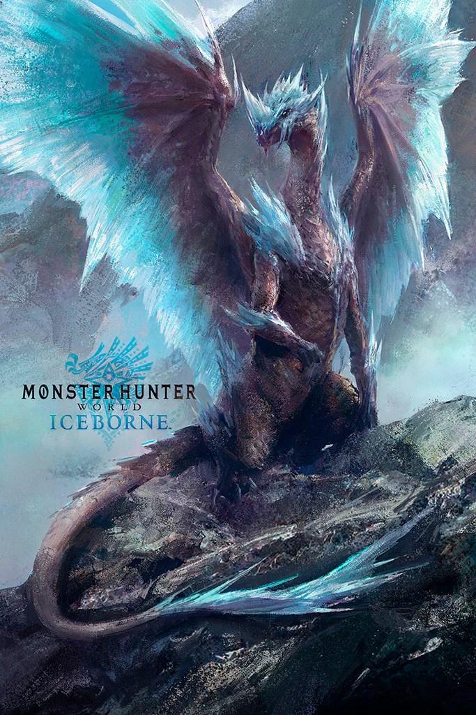 monster hunter world iceborne video game poster