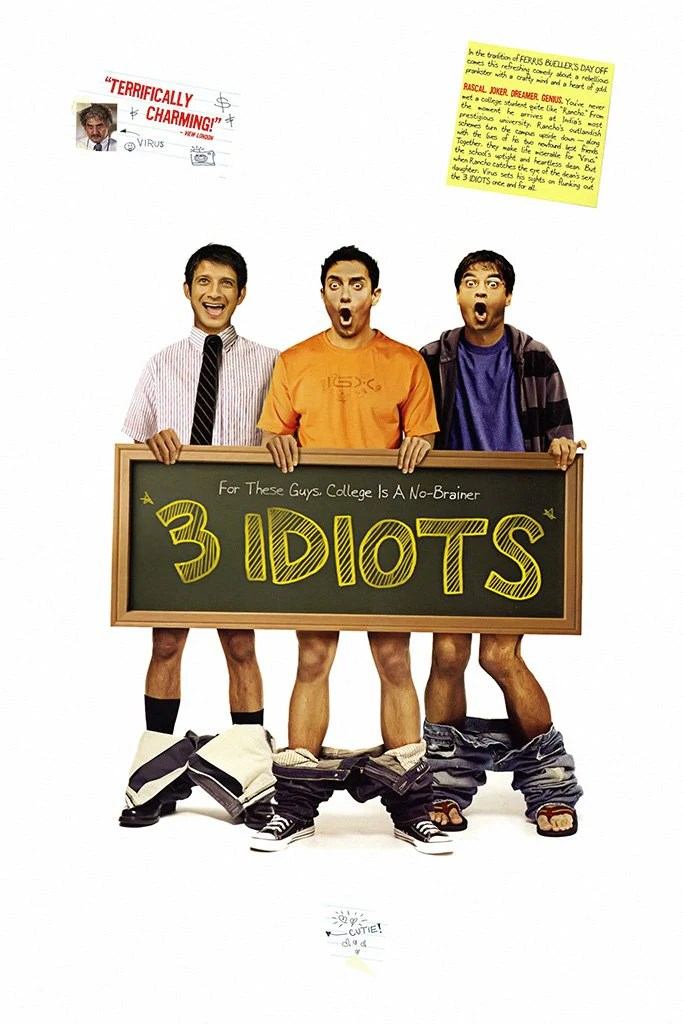 Image result for 3 idiots movie poster