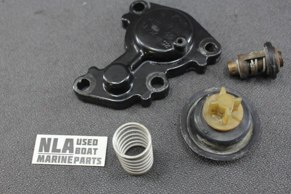 Mercury Outboard 40hp 30hp 50hp Poppet Thermostat Cover 19074 1 895338 – NLA Marine