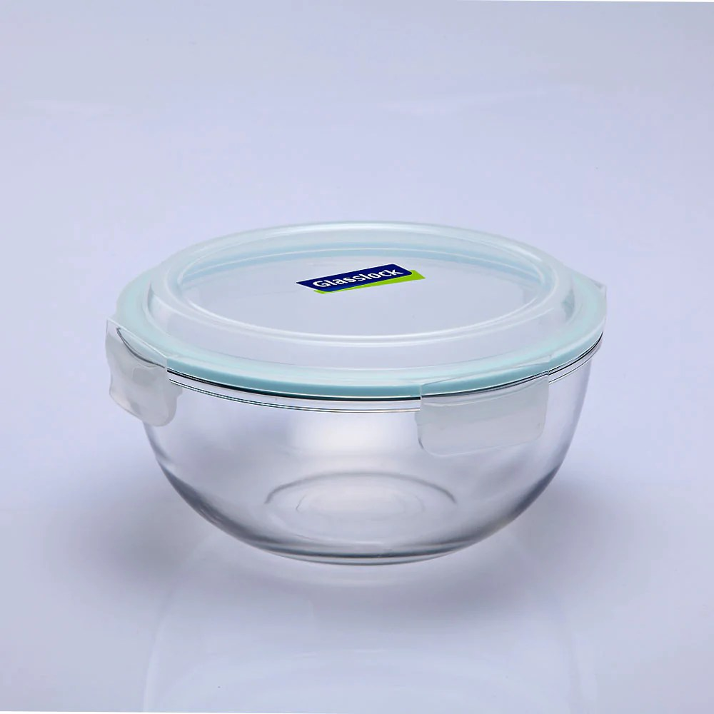 glasslock airtight tempered food container microwave safe mixing bowl