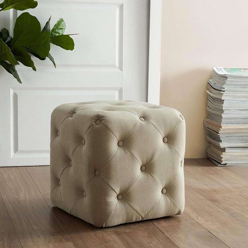 all over button tufted square ottoman