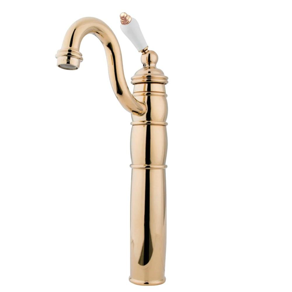vessel sink faucet in polished brass bfkb1422pl