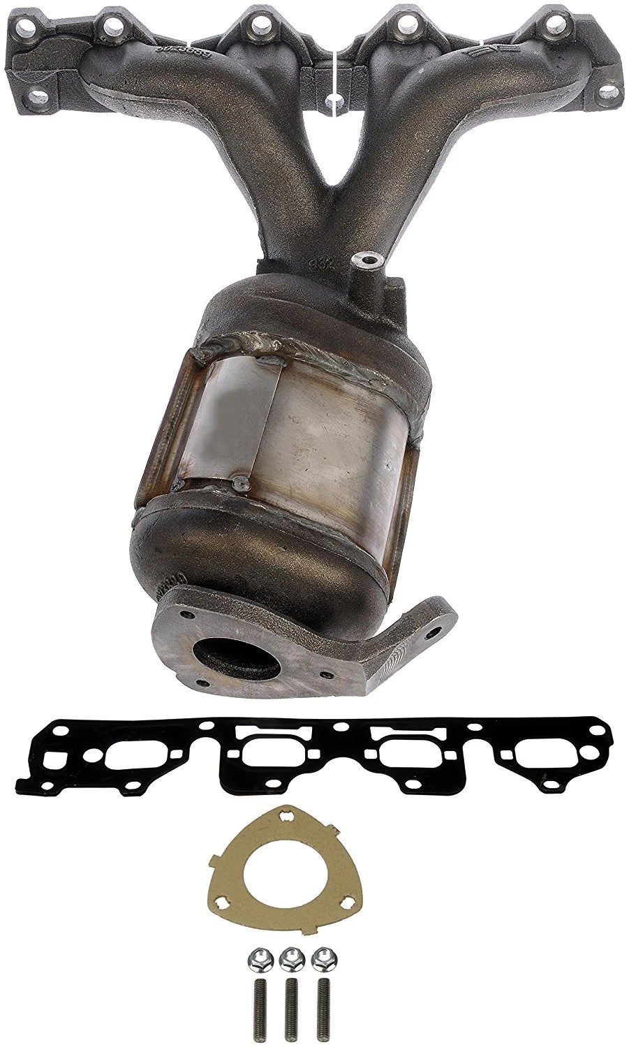 674 889 exhaust manifold with integrated catalytic converter 2004 2008 chevy malibu 2006 2008 pontiac g6 2007 2008 saturn aura non carb