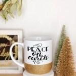 Peace On Earth Christmas Coffee Mug Twinkle Twinkle Lil Jar