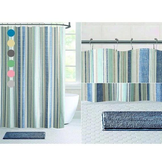 14 piece bath set chenille noodle rug shower curtain 6 patterns