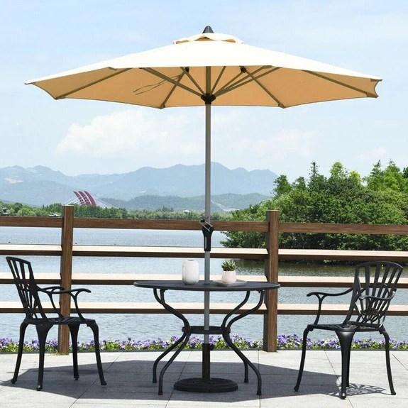 9 outdoor patio market umbrella with aluminum pole