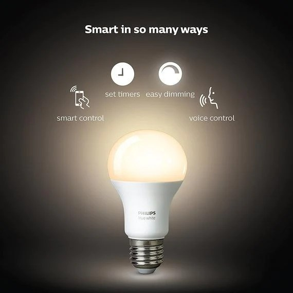 philips hue white 2nd generation a19 dimmable led smart light 2 bulb s