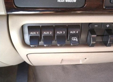How to wire your light bar to your Ford auxiliary switches by Black OAK LED