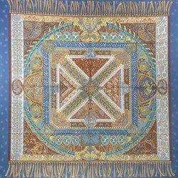 hermes silk scarf sur un tapis volant