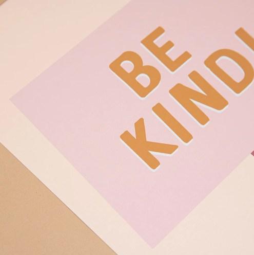 Be Kind' Girl's Print – Too Wordy