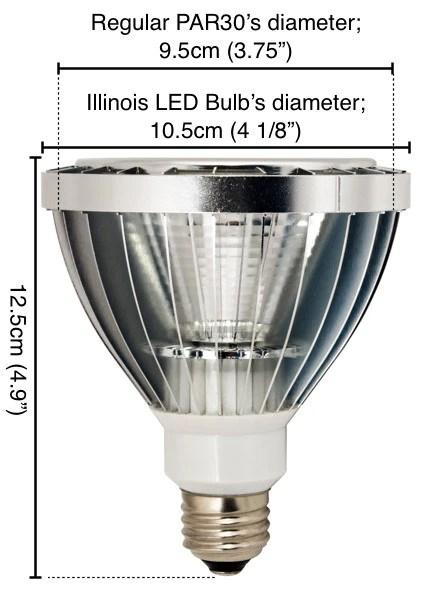 Illinois Par30 Led Light Bulb Led Waves