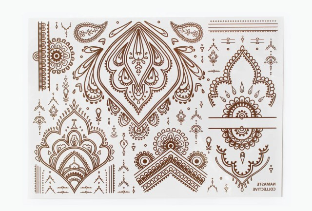 Brown Henna Flash Tattoo - Namaste Collective - 2