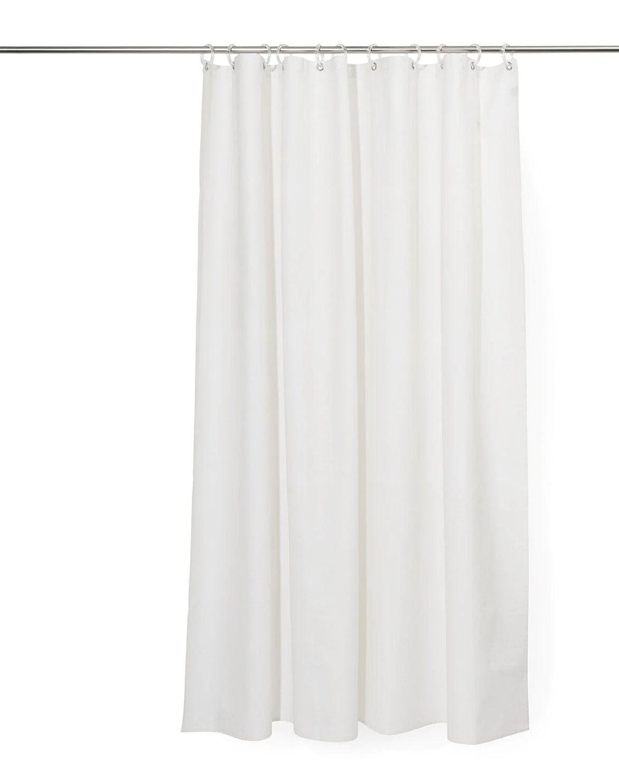 white 100 linen shower curtain waterproof 150cm wide