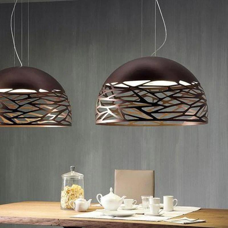 contemporary italian dome pendant light bronze assorted sizes
