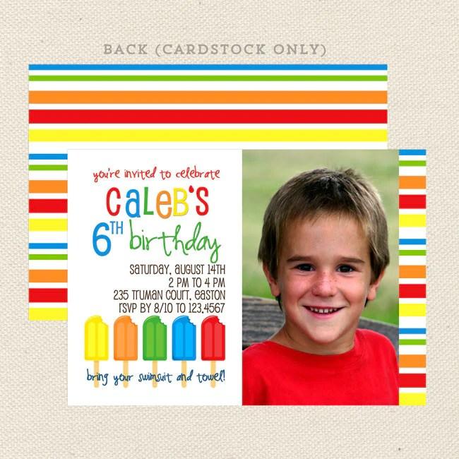 summer popsicle boy birthday