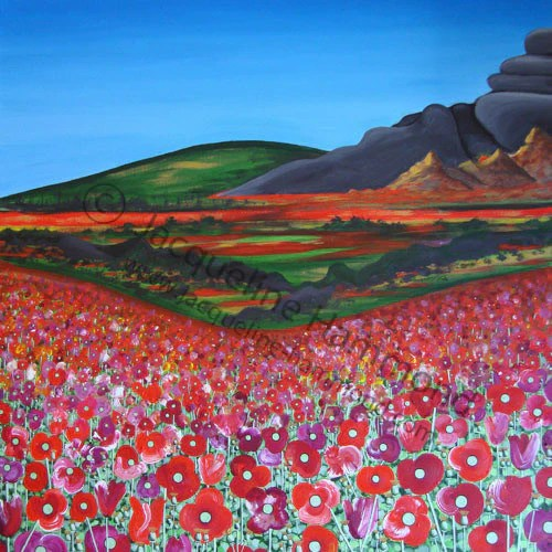 Field of Dreams - Painting by Jacqueline Hammond