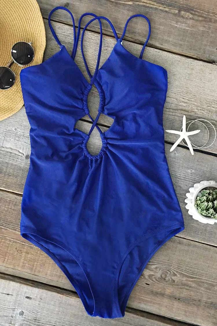 Cant Miss This Strappy One-piece Swimsuit