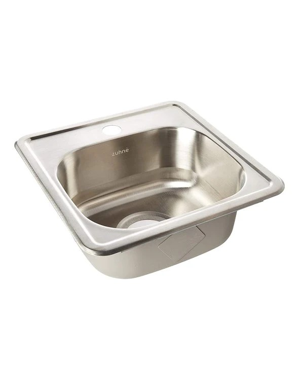 zuhne drop in bar prep rv small sink stainless steel 15 by 15 single bowl