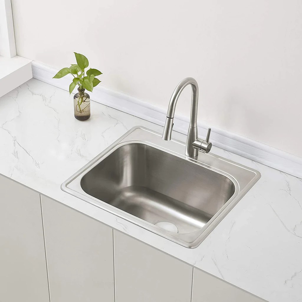 zuhne 25 by 22 drop in utility sink for laundry room with drain strainer 12 extra deep basin