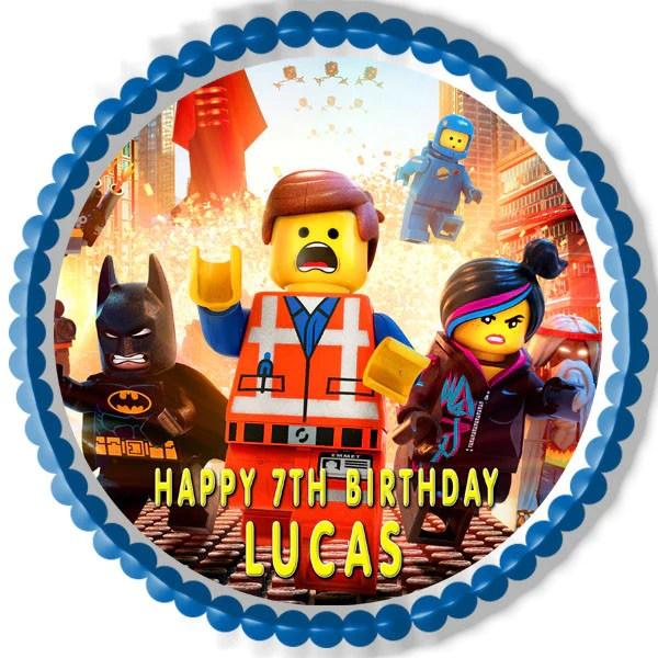 Lego Movie Edible Birthday Cake Or Cupcake Topper Edible