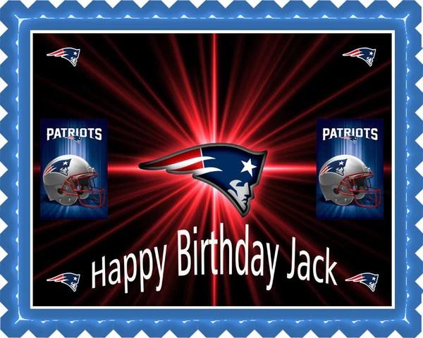 New England Patriots Edible Birthday Cake Or Cupcake