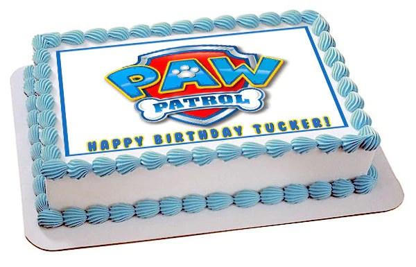Paw Patrol 4 Edible Birthday Cake Or Cupcake Topper
