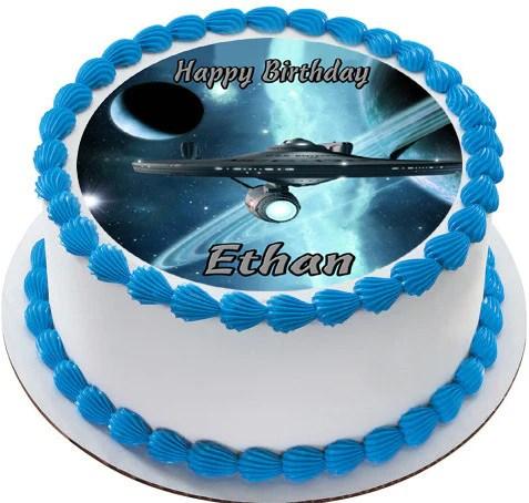 Star Trek Edible Cake Topper Amp Cupcake Toppers Edible