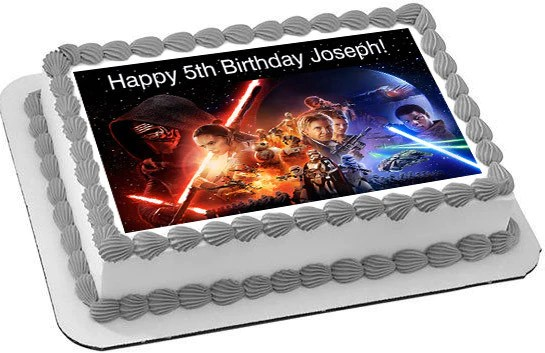 Star Wars 7 Force Awakens 2 Edible Cake Topper Amp Cupcake