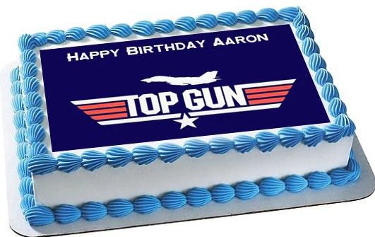Top Gun Edible Cake Topper Amp Cupcake Toppers Edible