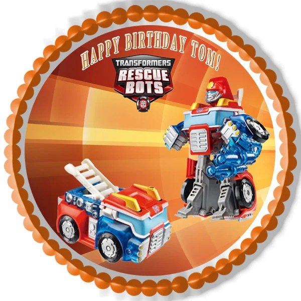 Transformers Rescue Bots 6 Edible Cake Or Cupcake Toppe