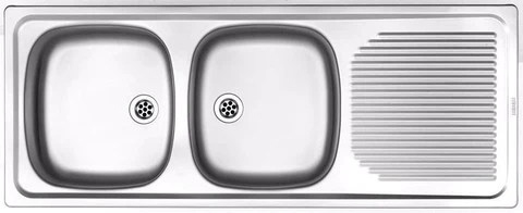 kitchen sink stainless steel project line double bowl