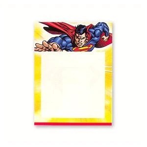 superman birthday party birthday invitations note cards bling your cake