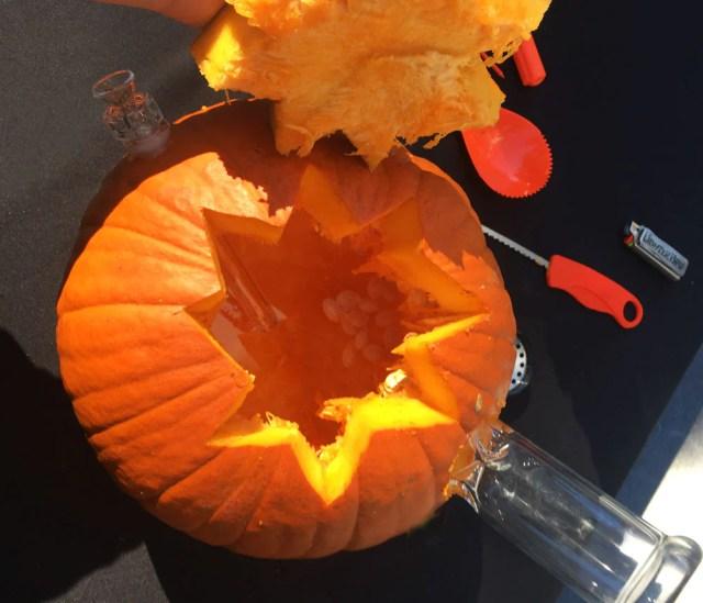 hollowed out pumpkin