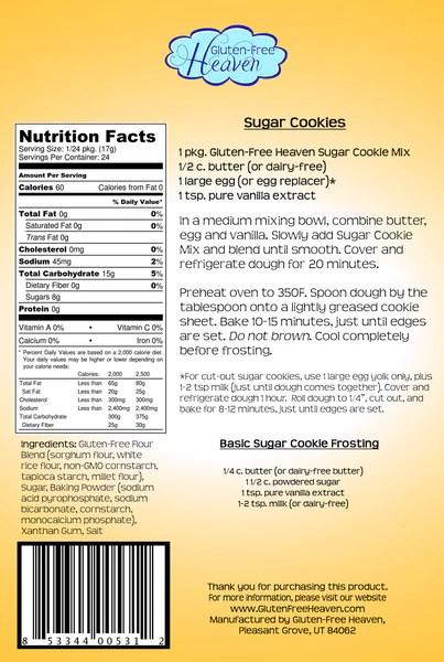 Gluten Free Sugar Cookie Mix Gluten Free Heaven